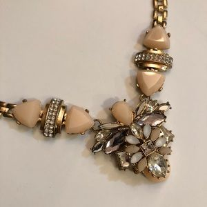 Jewelry - Iight Pink and Gold Statement Necklace